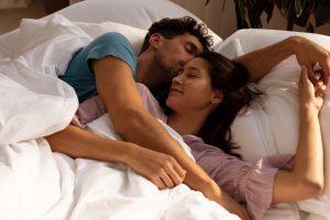 couple sleep together